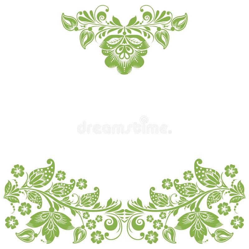 Рамка eco растительности флористическая, украшение предпосылки иллюстрация вектора