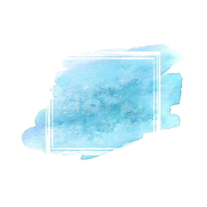 Рамка grunge акварели Teal иллюстрация штока