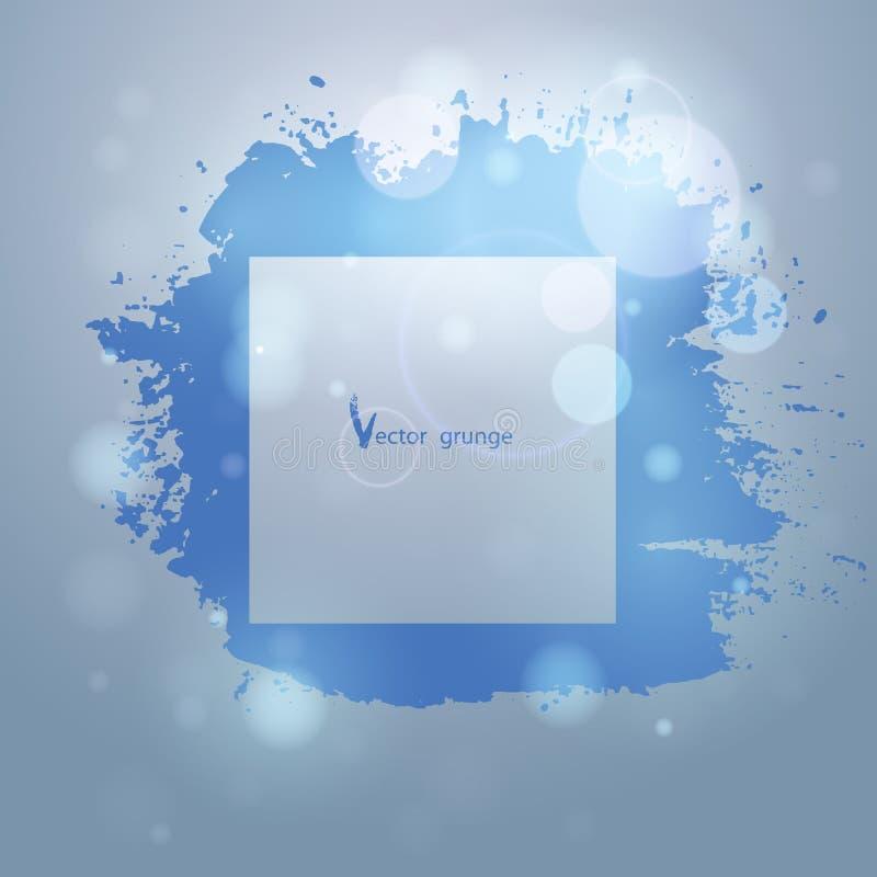 Рамка Grunge на абстрактной предпосылке с вектором bokeh иллюстрация вектора