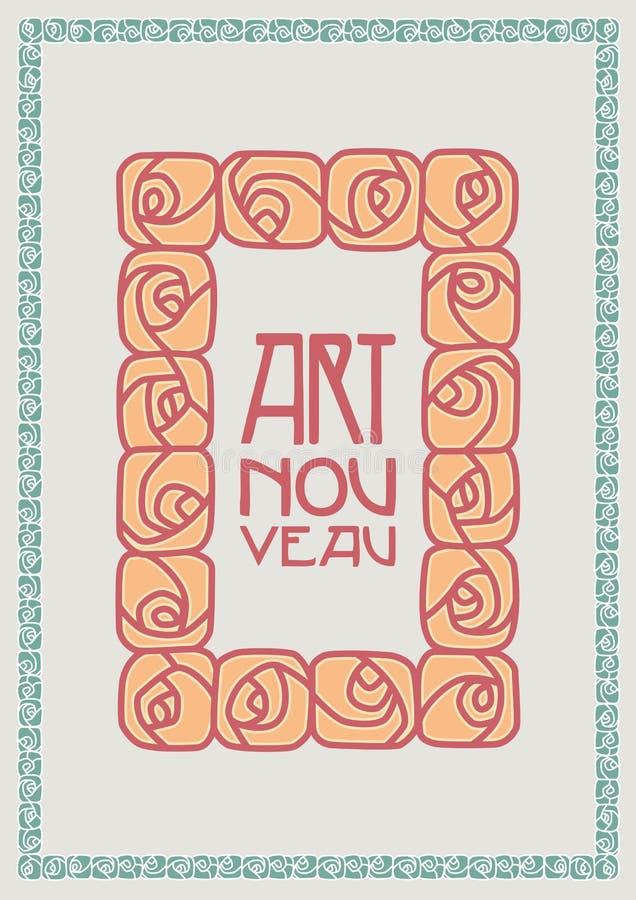 Рамка Nouveau искусства иллюстрация штока