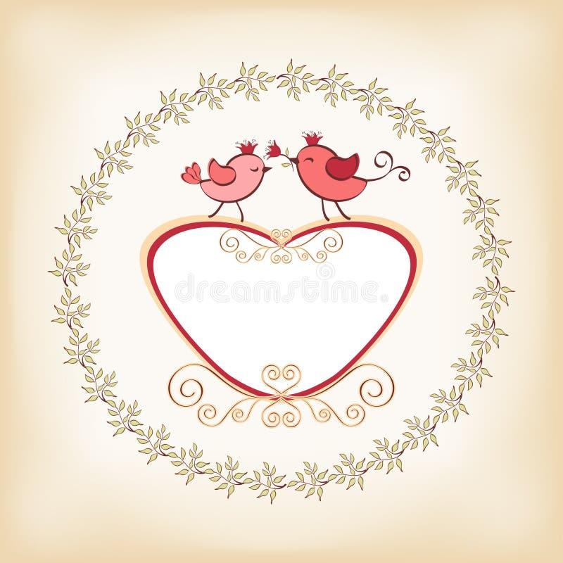 Download Рамка ` S валентинки с птицей Иллюстрация вектора - иллюстрации насчитывающей boris, край: 41662483