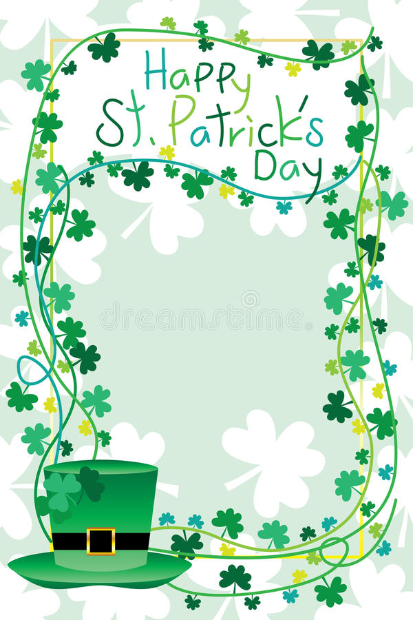 Рамка ` s St. Patrick иллюстрация вектора