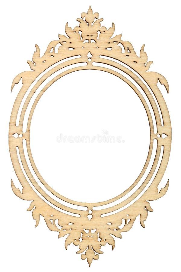 Рамка Woodenl изолированная на белой предпосылке стоковое изображение rf