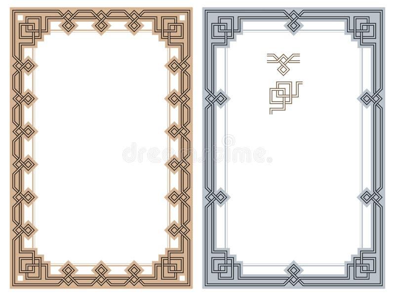 Рамки вектора абстрактные от связанных линий Мотивы ¡ Ð eltic иллюстрация вектора