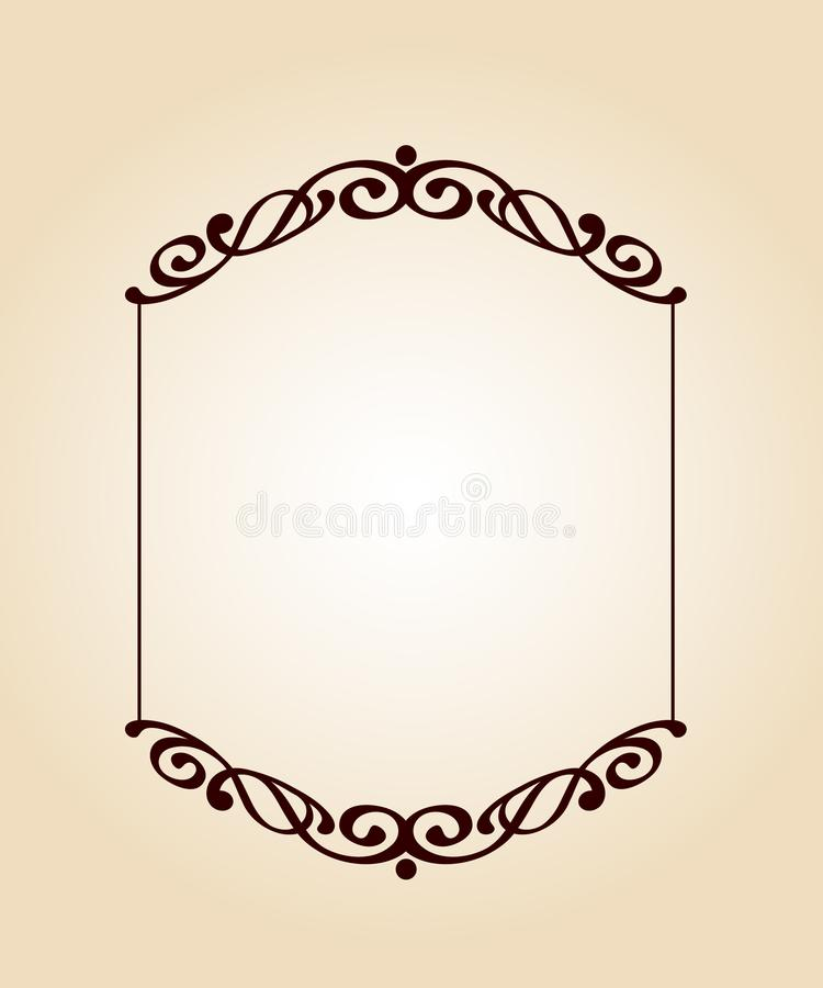 Рамки вектора ретро также вектор иллюстрации притяжки corel brougham иллюстрация вектора