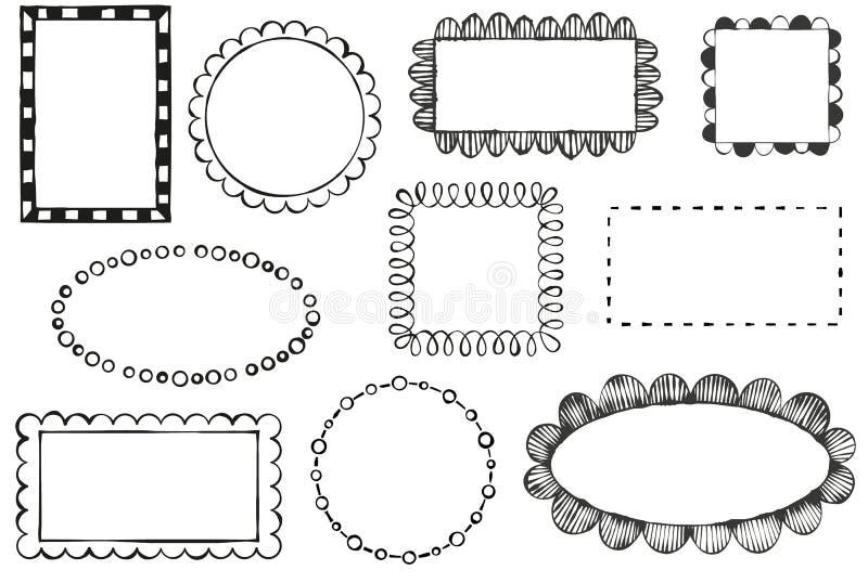 Рамки вектора Doodle иллюстрация штока