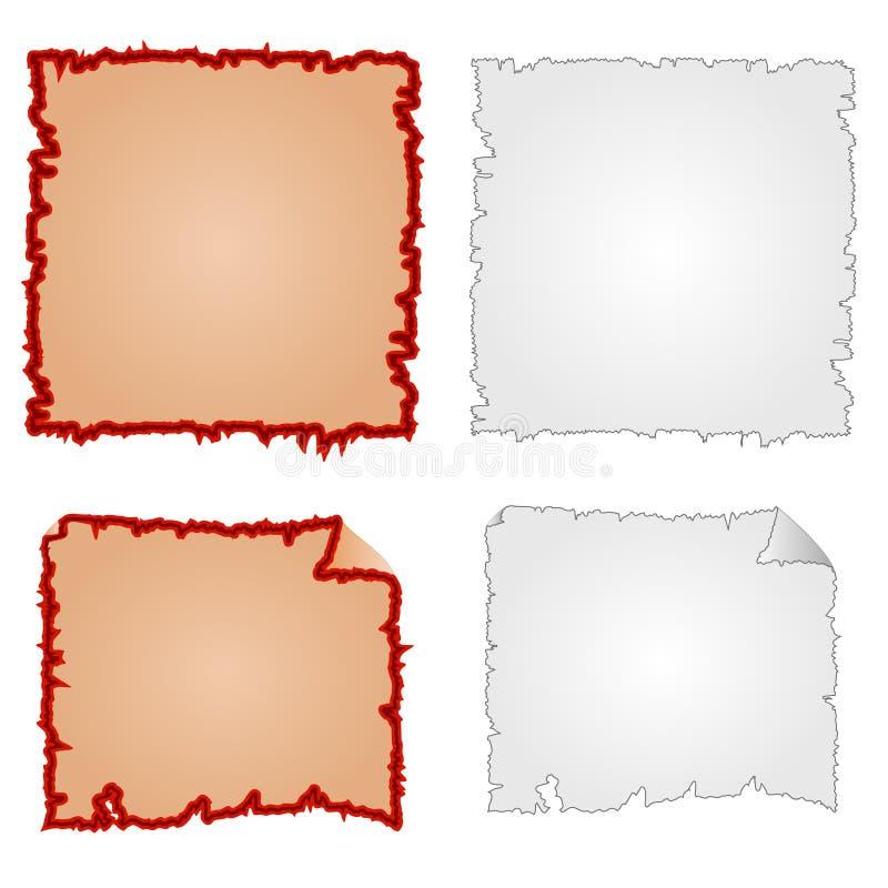 Рамки или поврежденное оборудование и растрепанный бумажный вектор иллюстрация штока