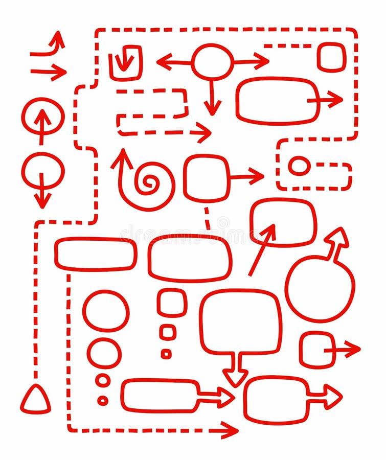 Рамки и стрелки для infographic иллюстрация штока