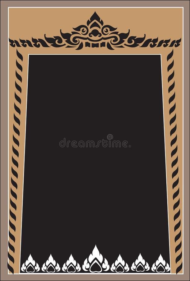 Рамки картины тайские иллюстрация вектора
