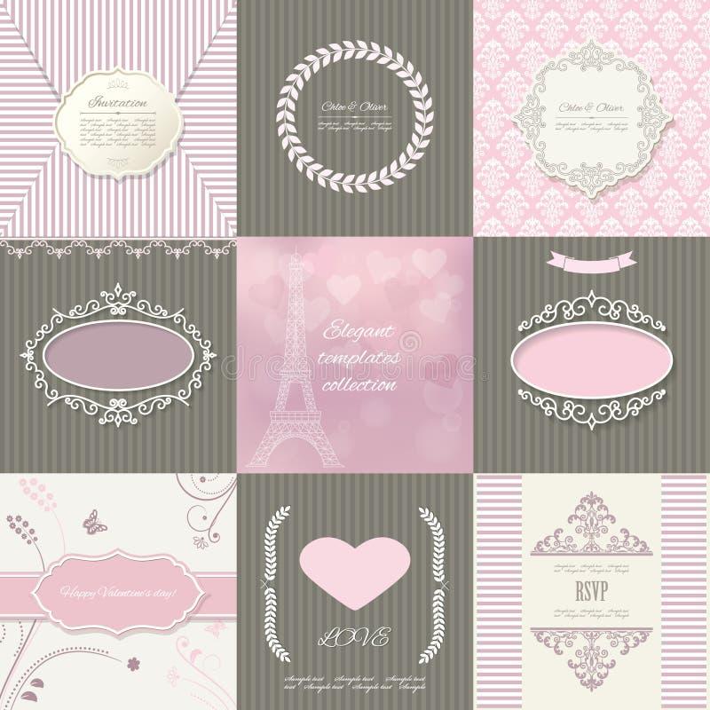 Рамки, карточки и картины Винтажные шаблоны иллюстрация штока