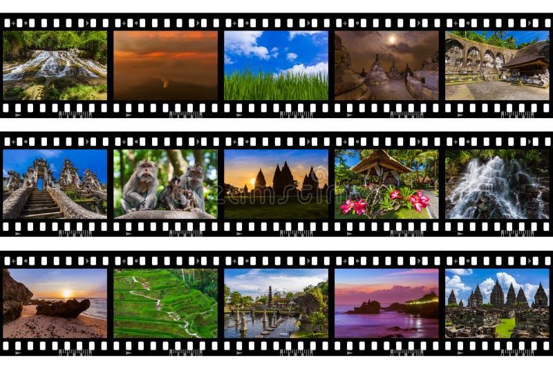 Рамки фильма - перемещение Бали Индонезии отображает мои фото стоковое фото
