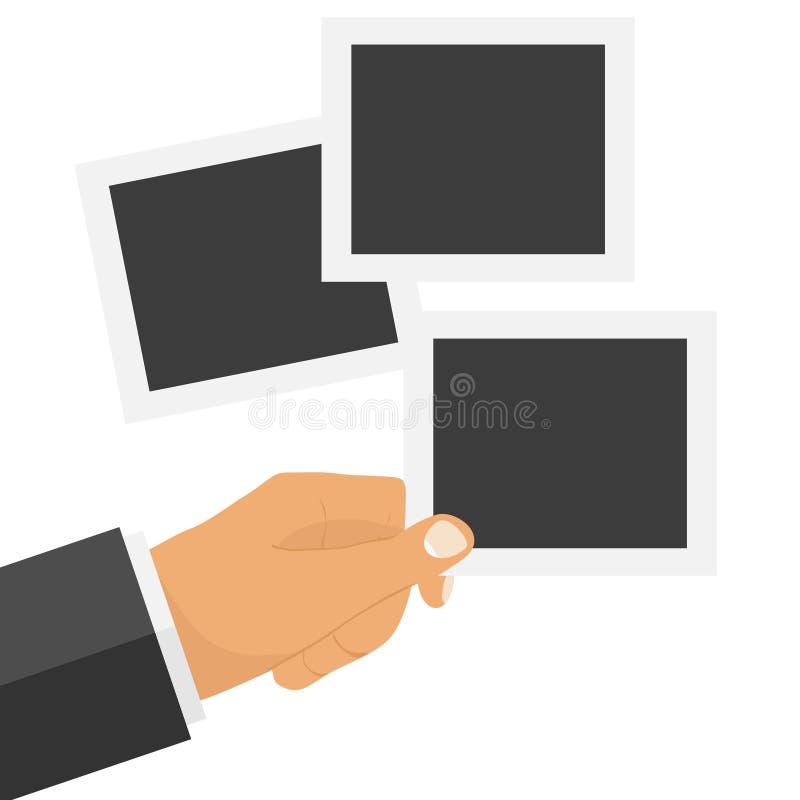Рамки фото в руке ` s персоны бесплатная иллюстрация