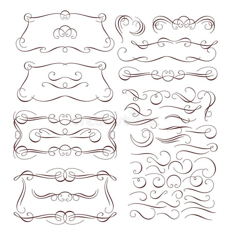 рамки элементов конструкции каллиграфии бесплатная иллюстрация