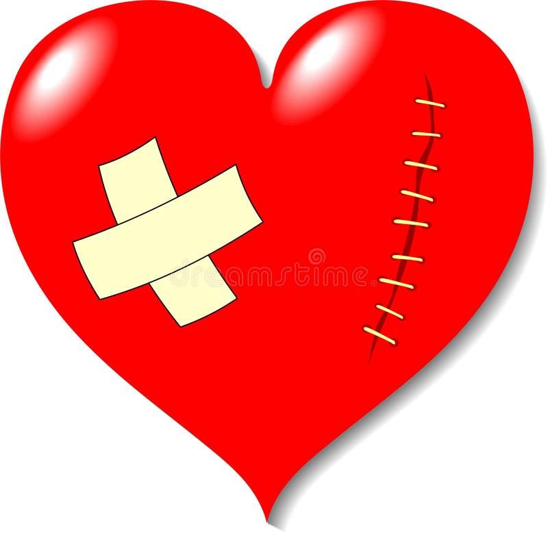 рана влюбленности сердца иллюстрация вектора