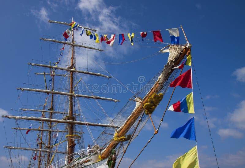Рангоуты корабля моря стоковые изображения