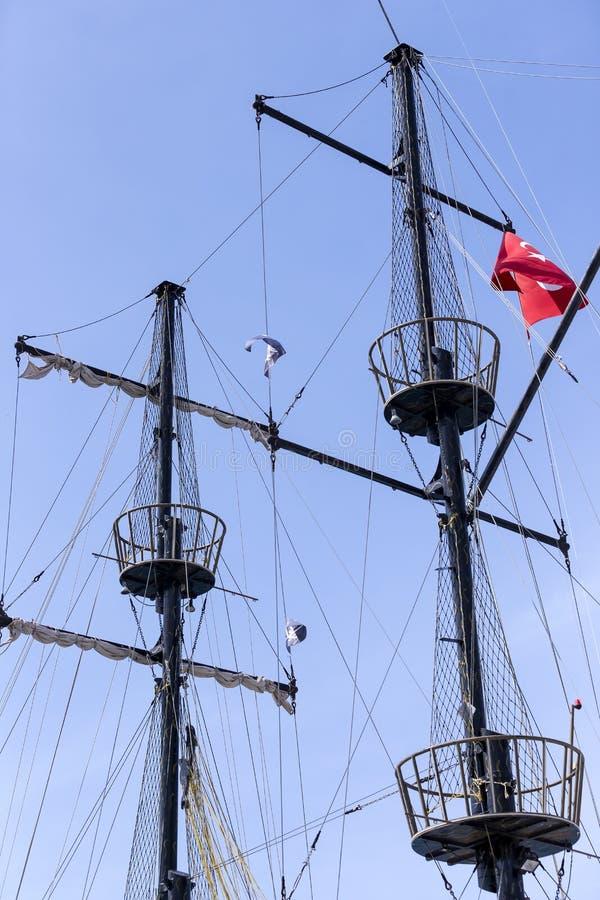 Рангоуты кораблей и стоковое изображение rf