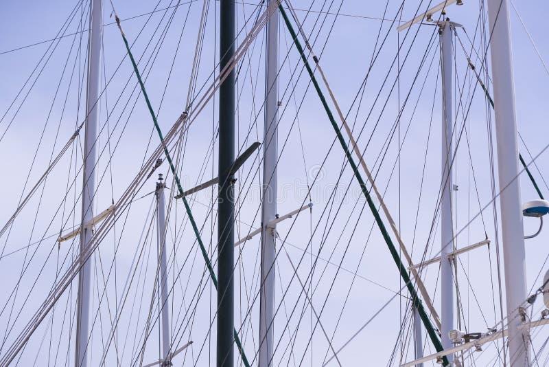 Рангоуты кораблей и стоковое изображение