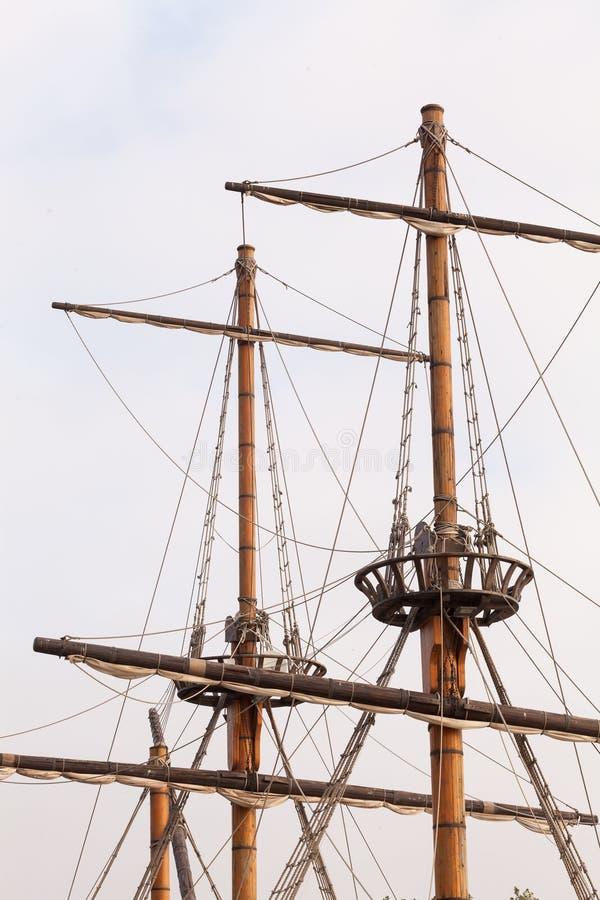 Рангоуты пиратского корабля стоковое фото rf