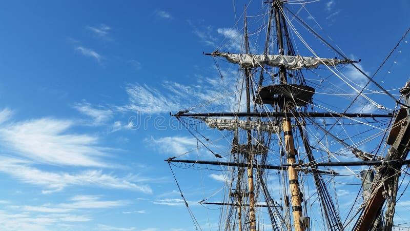 Рангоут пиратского корабля стоковая фотография rf