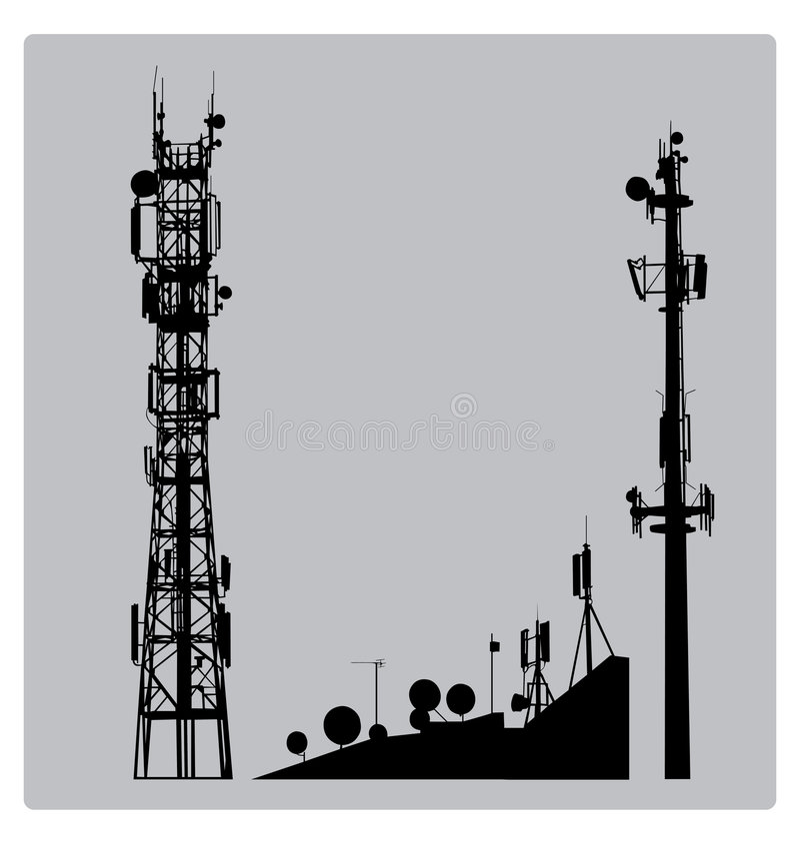 рангоут communicatios иллюстрация штока