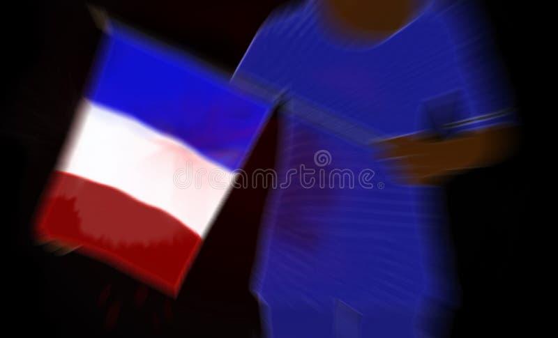 Раненая Франция после иллюстрации нападений иллюстрация штока