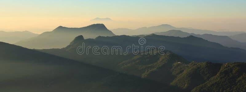 Рано утром в холмах Непала стоковое изображение