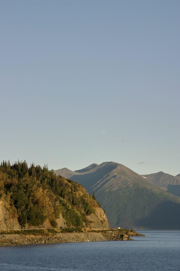 Рано утром над Prince William Sound стоковые фото