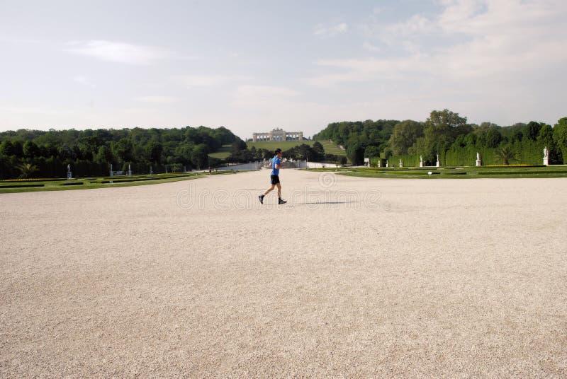 Рано утром на резиденции австрийских императоров стоковые фото