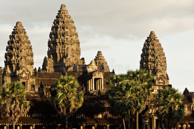 Рано утром на Angkor Wat, Камбоджа стоковое фото rf