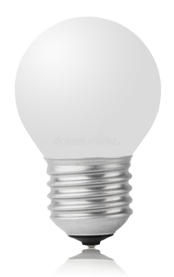 Раскаленный добела светильник на белизне стоковые изображения rf