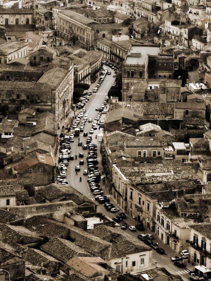 расквартировывает итальянский городок стоковое изображение