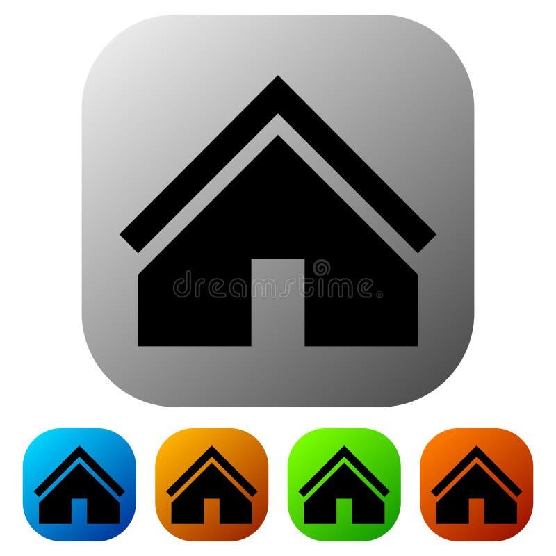Download Расквартируйте значок в цвете 5 для концепции недвижимости/домашней кнопки Иллюстрация вектора - иллюстрации насчитывающей royalty, цвет: 81801585