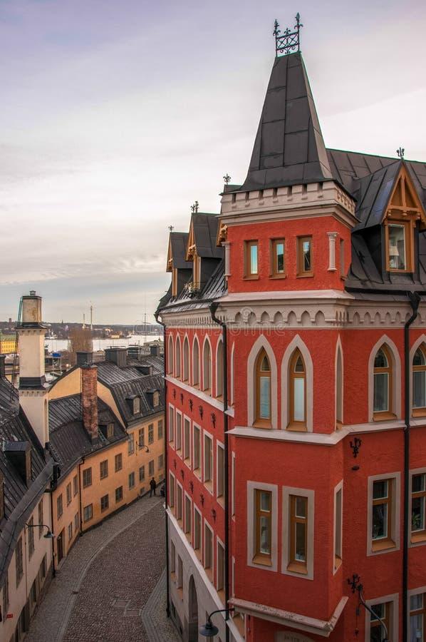 Расквартируйте Mikael Blomkvist, серию книг тысячелетия Stieg Larsson, Стокгольма, Швеции стоковая фотография rf