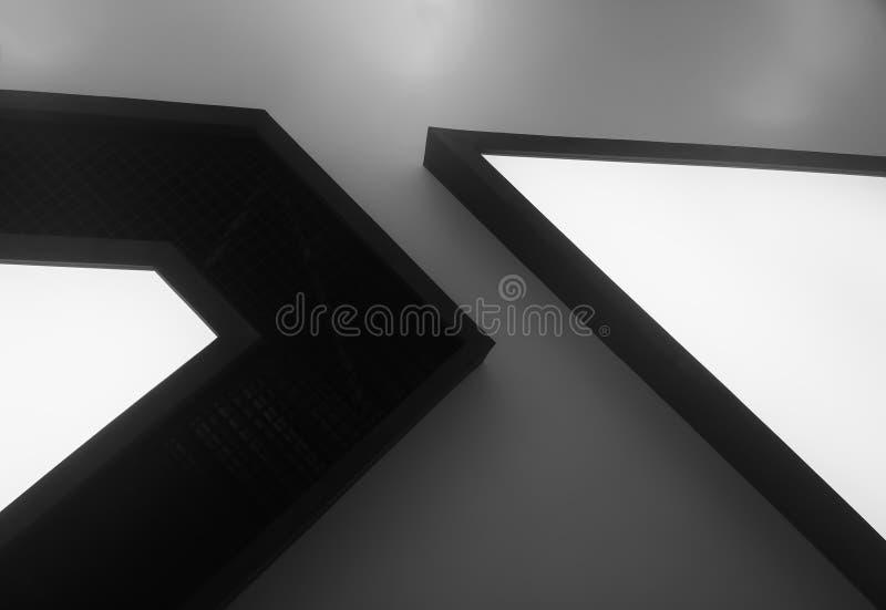 Раскосные угловые формы футуристической предпосылки объекта стоковое фото rf