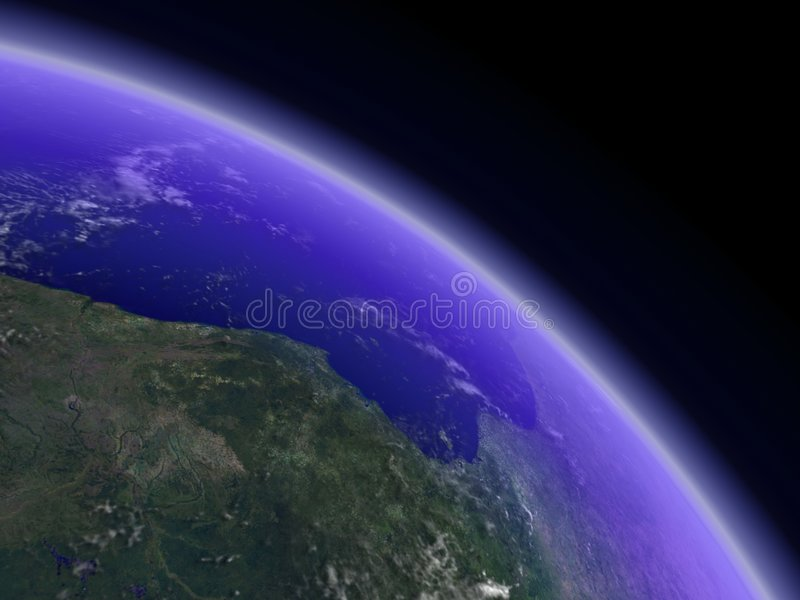 раскосный горизонт земли стоковая фотография rf