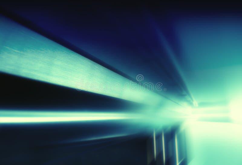 Раскосный кинематографический потолок космического корабля с кинематографической предпосылкой взгляда стоковое фото rf