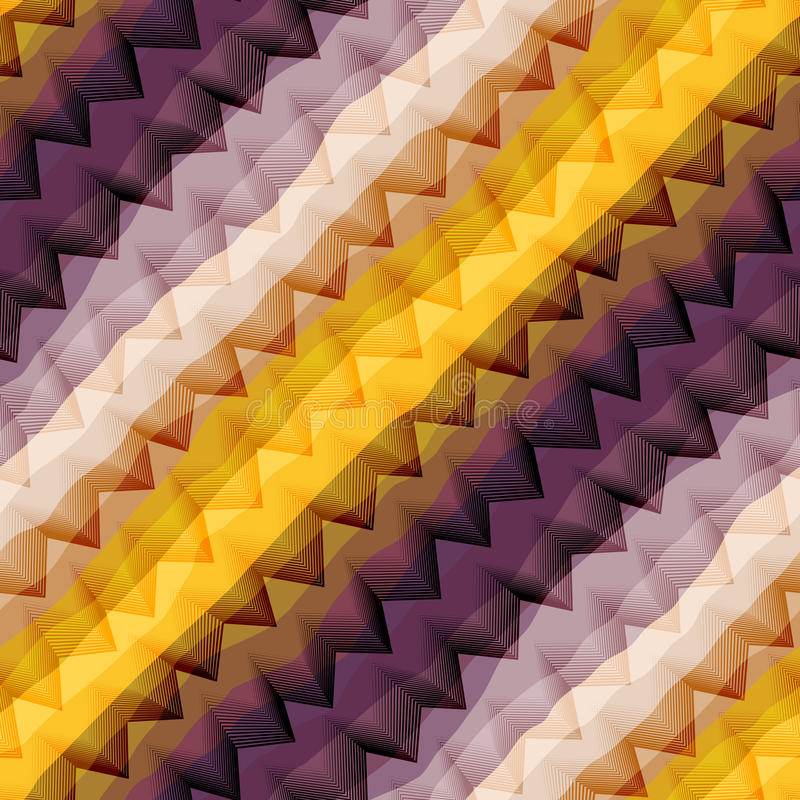 Раскосный фиолетовый и желтый шеврон иллюстрация штока