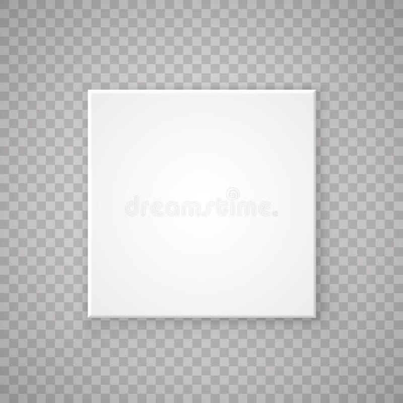 Раскройте бумажную квадратную коробку иллюстрация вектора