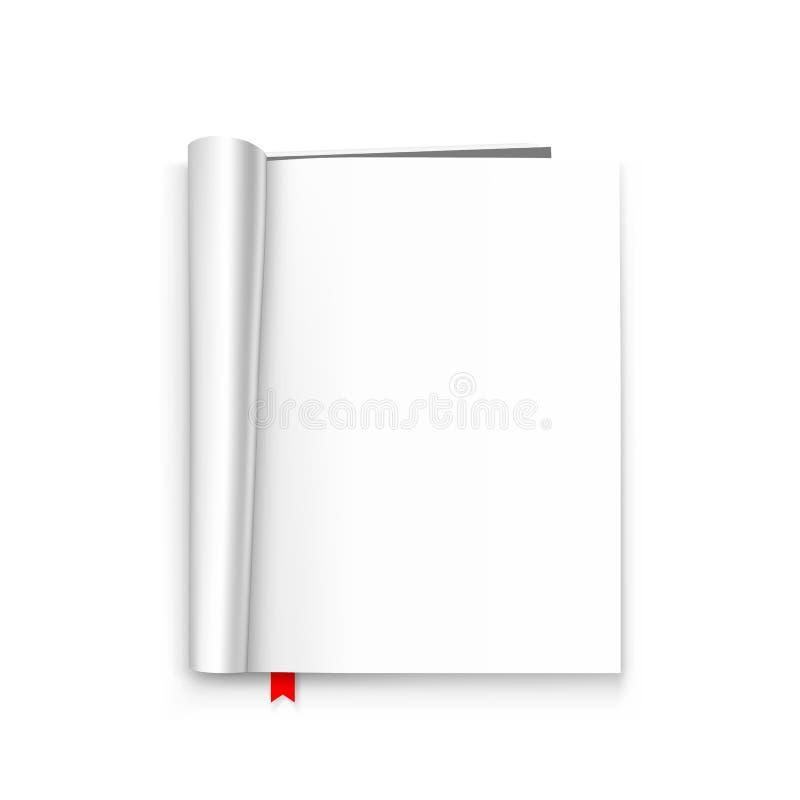 Раскройте бумажный журнал бесплатная иллюстрация