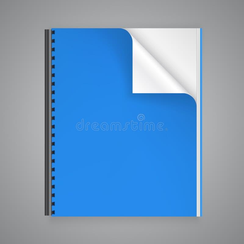Раскройте бумажный журнал иллюстрация штока