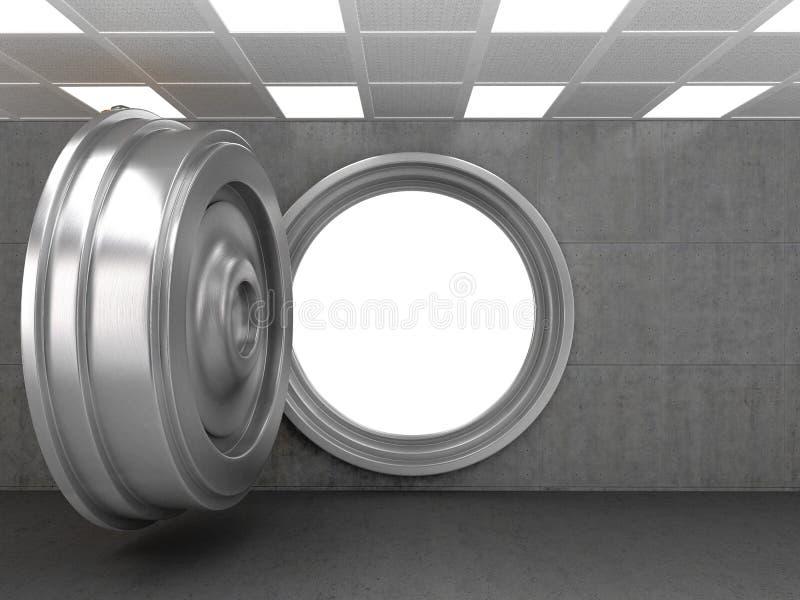Раскройте дверь свода банка стоковые изображения