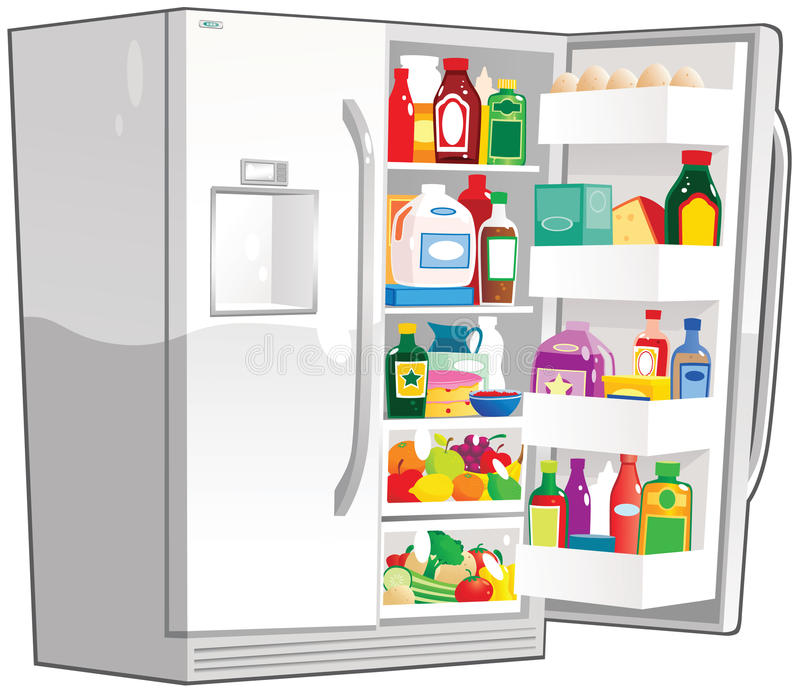 Раскройте двойной холодильник ширины иллюстрация штока