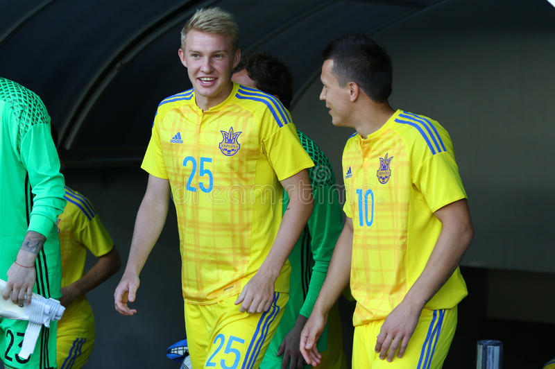 Раскройте встречу футбольной команды соотечественника Украины стоковая фотография