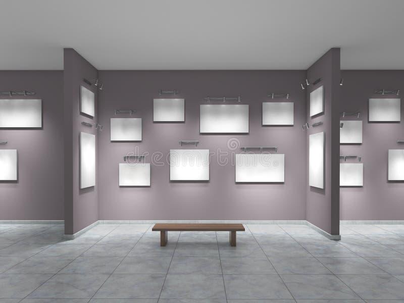 Раскройте галерею с пустыми изображениями иллюстрация штока