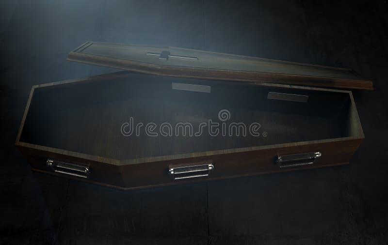 Раскройте гроб и распятие бесплатная иллюстрация