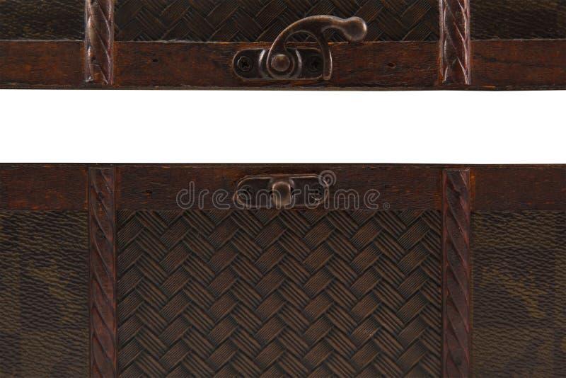Раскройте деревянный комод на белой предпосылке стоковое изображение rf