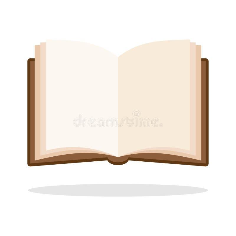 Раскройте значок книги иллюстрация штока