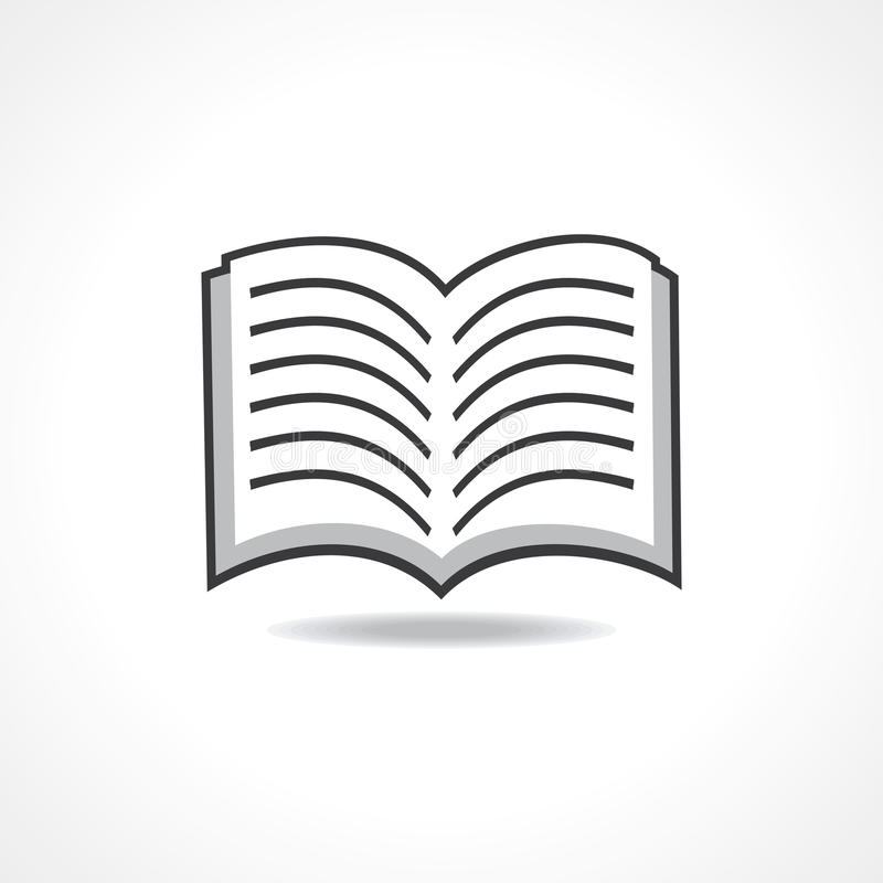 Раскройте значок книги иллюстрация вектора