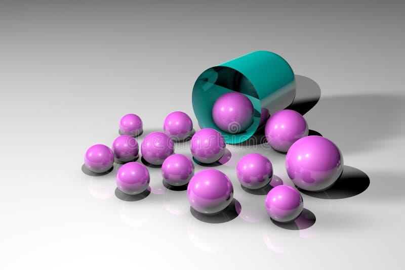 Раскройте капсулу с целебными зернами Аптека фармации Антибиотическая капсула Probiotic капсула Витамин и минерал иллюстрация штока