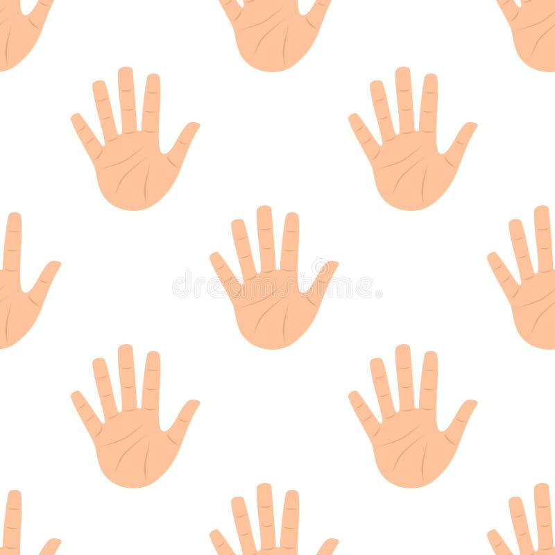 Раскройте картину плоского значка руки ладони безшовную бесплатная иллюстрация